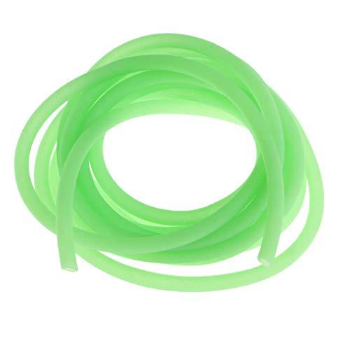 B Blesiya 1 Stück 2m Hellgrün Silikon Rig Tube Leuchtschlauch Silikonschlauch Karpfenfischen Silikon Rig Ärmel - A