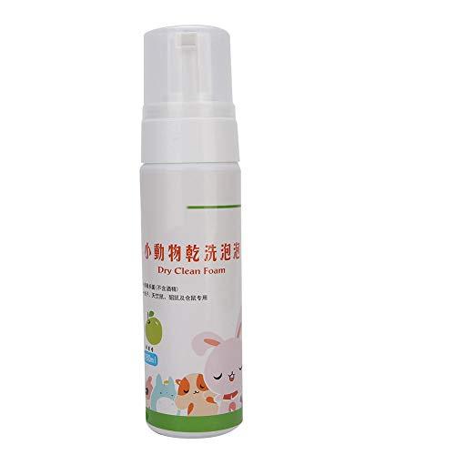 Redxiao Chemischer Reinigungsschaum, Krankheitshammer-Trockenreinigungsschaum, schaumsicherer Heimtierbedarf für Haustier-Hamster-Kaninchen-Trockenreinigungsschaum(Apple Flavor)