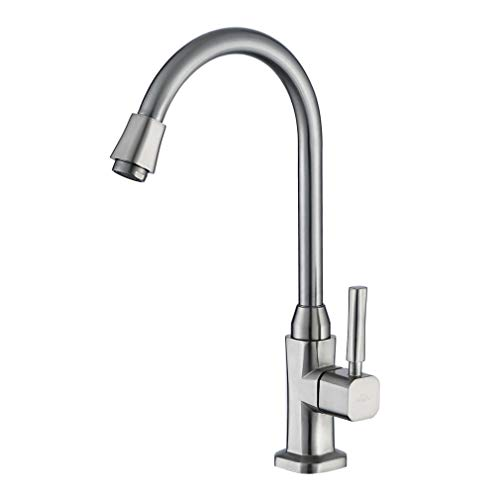Auralum 360°drehbar Kaltwasser Wasserhahn Küchenarmatur Spültischarmatur mit EINEM Schlauch