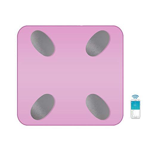DSAEFG Intelligente geavanceerde Bluetooth lichaamsvet schaal, badkamer schaal Bluetooth digitale weegschaal lichaamsvet schaal lichaam voor gewichtsverlies fitness tracking APP zwart