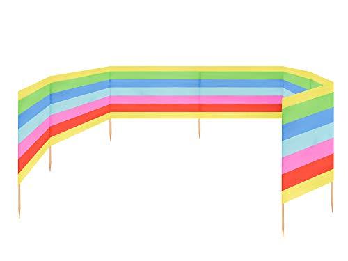 Ladeheid Strand Windschutz Sichtschutz 10 m lang LAEX001 (Regenbogen)