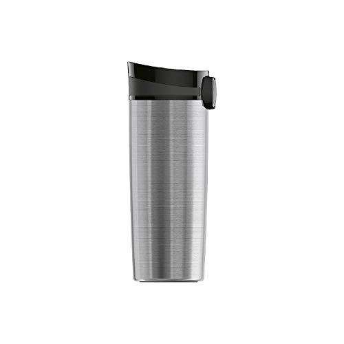 SIGG Miracle Brushed Taza térmica (0.47 L), termo para café aislante y sin sustancias nocivas, vaso térmico y hermético de acero inoxidable
