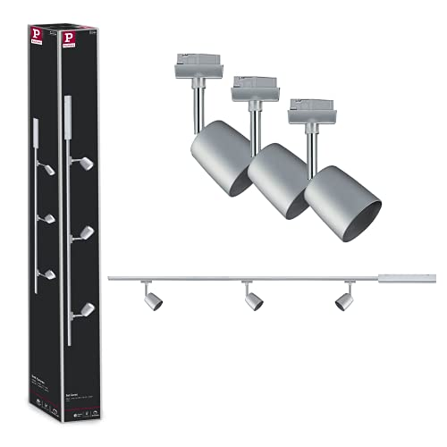 Paulmann 954.62 URail Set Cover max 3x10W GU10 Chrom matt/Chrom 230V 1m Schienensystem Schienenleuchte Deckenbeleuchtung Systembeleuchtung 95462