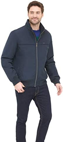 Tommy Hilfiger Men s Performance Faux Memory Bomber Jacket Navy M product image