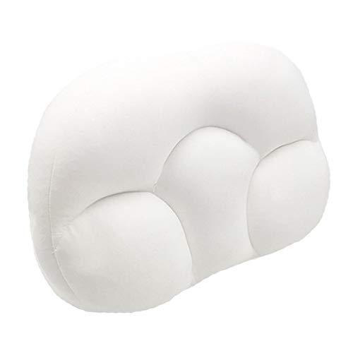 SFBBBO kopfkissen 3D-Hals Micro Airball Kissen Tiefschlaf Kopfstütze Luftkissen Druckentlastungskissen Geschenk Waschbare Kissenbezugabdeckungen weiß