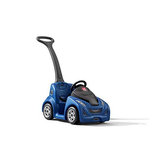 Step2 Push Around Kinderauto / Rutscher in Blau | Spielzeug Auto mit Schiebestange | Kinderfahrzeug / Rutscherauto ab 1.5 Jahre