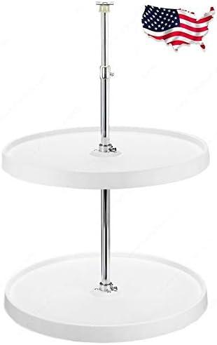 Richelieu Full Circle 2-Shelf Round L Ranking TOP14 Max 63% OFF Cabinet Trays Corner White