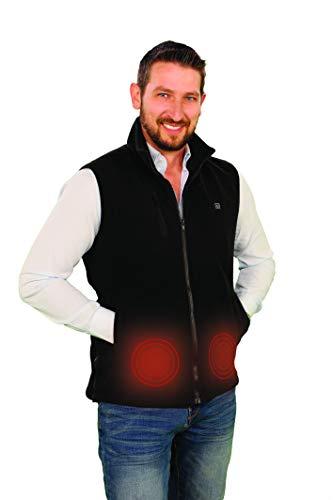 Mediashopping Gilet Riscaldante Unisex in Pile 3 Livelli di risaldamento Abbigliamento Invernale Contro Il Freddo (XS-M)
