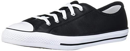 Converse Chucks 564985C Schwarz Chuck Taylor All Star Dainty GS Basic Leather Black White, Groesse:36 EU