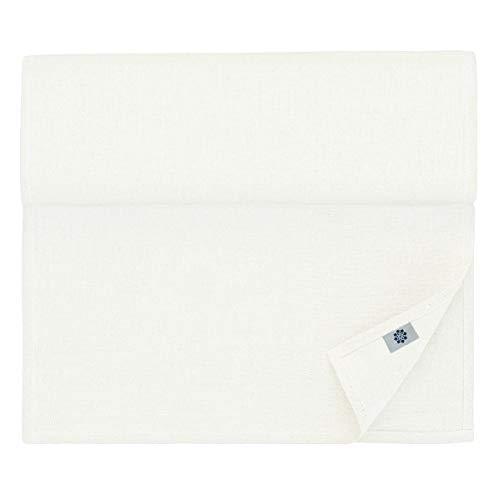 Linen & Cotton Chemin De Table de Luxe Amelia, 50% Lin, 50% Coton - Blanc (47 x 180cm)
