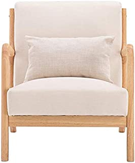 YYWE Chaise Lounge Wooden Frame Upholstered Oak Sofa...