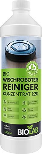 BIOLAB Bio Wischroboter Reinigungsmittel, auch für Saugroboter mit Wischfunktion - Bodenreiniger Konzentrat (1000 ml)