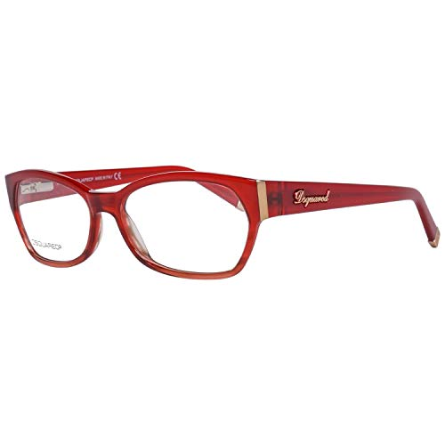DSquared DQ5045 55068 Dsquared2 Brillengestelle Dq5045 068 55 Oval Brillengestelle 54, Rot