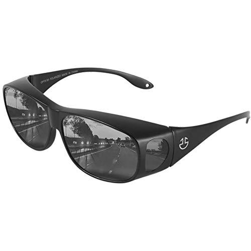Over Glasses Sunglasses For Men and Sunglasses for Women, UV Protection Fit Over Sunglasses, Matte...