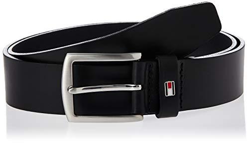 Tommy Hilfiger Herren Gürtel New Denton 3.5 Belt, Schwarz (BLACK 990), 90 cm, E3578A1208990