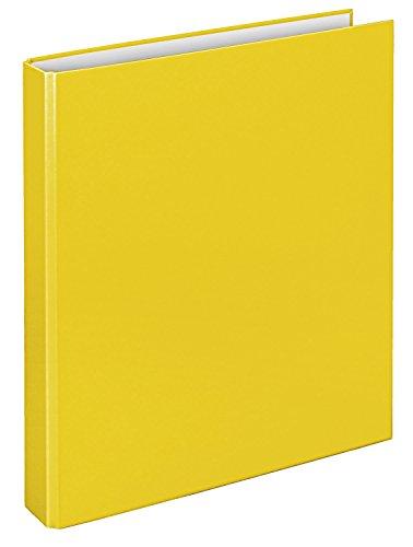 Veloflex 1141010 Ringordner Basic, Ringbuch, Ordner, DIN A4, 265 x 315 x 45, 2-D-Ring-Mechanik, gelb