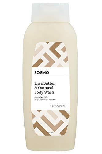 Amazon Brand - Solimo Shea Butter and Oatmeal Body Wash, 24 fl oz (Pack of 1)