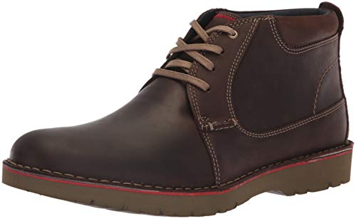 Clarks Mens Vargo Mid Ankle Boot, Dark Brown Leather, 1.5