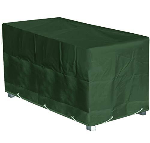 Green Club beschermhoes voor tuintafel, rechthoekig, hoogwaardig, polyester, L 240 x B 110 x H 70 cm, kleur: groen