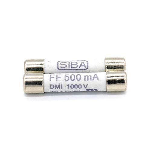 2 Pack Digital Multi Meter Fuse FF500MA (500MA,0.5A)1000V Fast Acting Ceramic Fuse For DC Digital Multi Meter 6.3 x 32mm