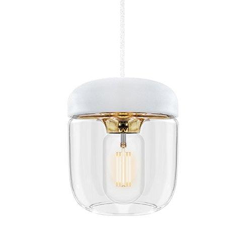 Vita Acorn - Lámpara de techo, color blanco y latón