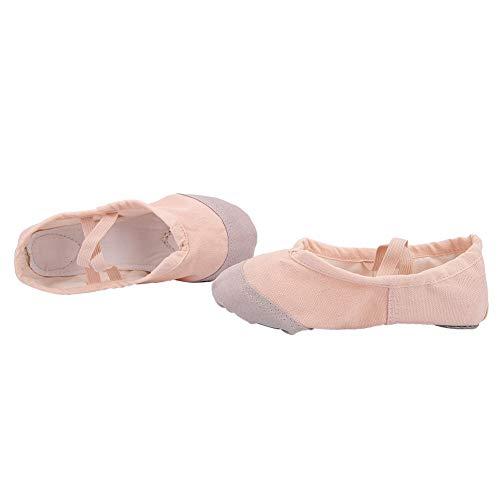 Alomejor 1 Paar Kinderen Ballet Schoenen Dansschoenen Gymnastiek Dansschoenen met Elastische Band voor Meisjes Kinderen