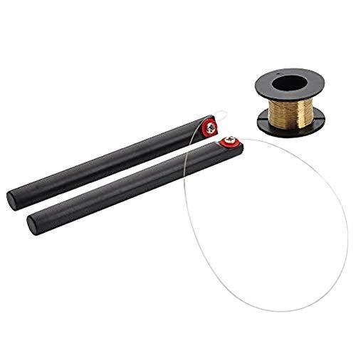 MMOBIEL Molybdenum Schneidedraht Wire Draht Gold 0,08 mm 100m / 329ft geeignet für Entfernen von LCD Front Glas inkl. Handgriffe