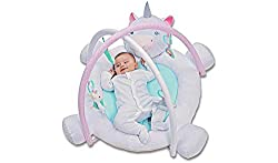 This magical playmat is ideal for helping your baby to rest and play as they boost their sensory development. Designed in the shape of a unicorn the luxuriously padded and super soft materials are soft for your baby to touch and the detachable hangin...