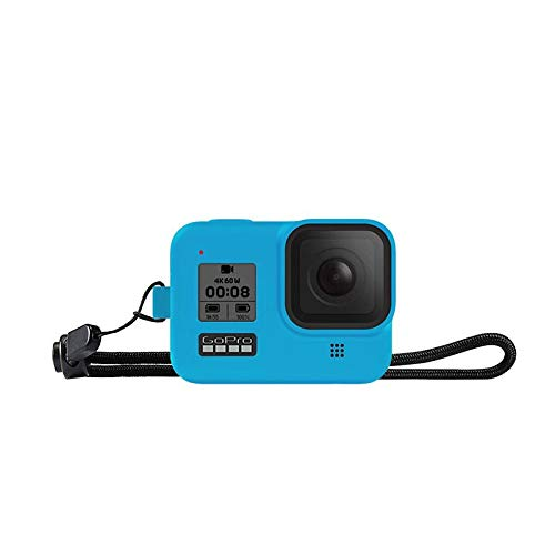 TUTUO Funda de Silicona para GoPro Hero 8 Black cámara de acción, Funda Protectora de Marco de Goma para GoPro Hero 8 Accesorios Negros(Azul)