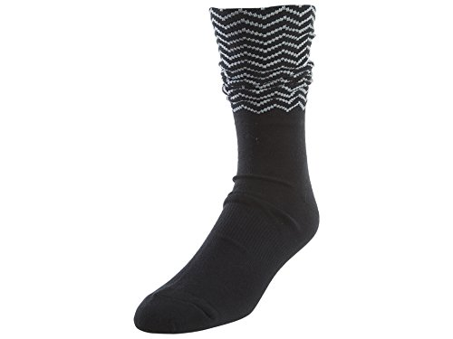 Nike 12Crew Socken Linie Michael Jordan Unisex XL schwarz/weiß