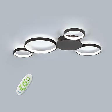 4-Luz LED Lámpara De Techo Adecuado Para Sala De Estar Dormitorio Aluminio Regulable Con Control Remoto Empotrado Luces De Techo 85-265V