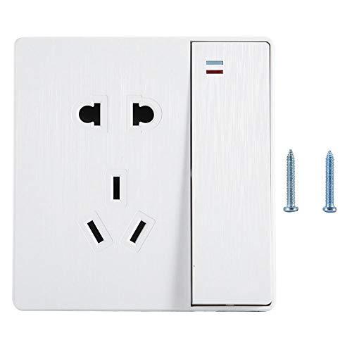 AUNMAS wandcontactdoos stopcontact met schakelaar voor thuis, slaapkamer, badkamer, Chinese stekker, 220 V