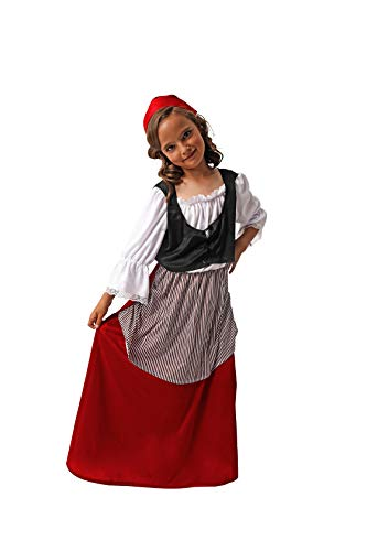 Costumizate! Disfraz de Campesina para niña Talla 5-6 Especial de Navidad