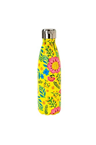 Kids Water Bottle Insulated Thermos Flask Best Water Bottle for Kids or Adults Boho Decor Floral Stainless Steel 17.6 Ounces Insulated Water Bottle
