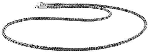 Kuzzoi Massive 925 Sterling Silber Königskette Herren Halskette, Dicke 3mm, Länge 50 cm, mit Schmuckbox - 345050-050