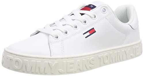 Hilfiger Denim Damen COOL Tommy Jeans Sneaker, Weiß (White 100), 37 EU