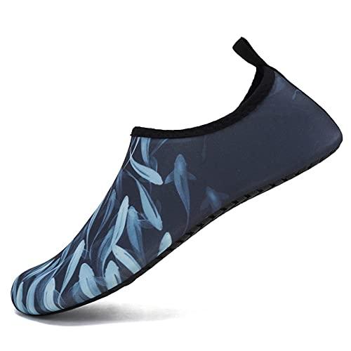 IceUnicorn Zapatillas de natación para hombre y mujer, para la playa, surf, agua, descalzo, para deportes acuáticos, playa, piscina, surf, yoga, color, talla 38/39 EU