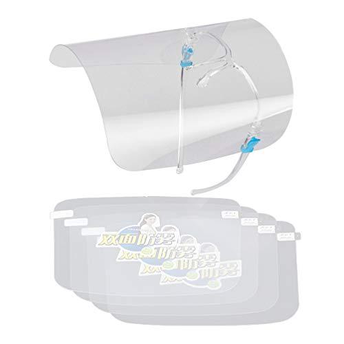 Yarnow 2 Stücke Gesichtsschutz Visier Schutzhelm Gesichtsschutzschirm Gesichtsschutzmaske Chemie Labor Schutzbrille Gesichtsschild für Arzt Zahnarzt Arbeit(mit 8 Klar Visier)