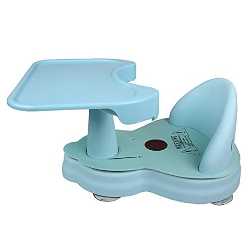 GLYIG Asiento De Bañera Para Bebé Para Sentarse Y Bañarse Con Respaldo, Silla De Baño De Verano Para Niños Pequeños Para Sentarse En La Bañera - Silla De Seguridad Para Ducha De Bebé (Color : Blue)