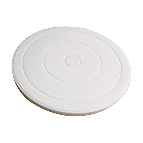 tianxiangjjeu kunststof taartplaat draaibare roterende anti-slip ronde taart gereedschap decoratieve beugel Kleur: wit