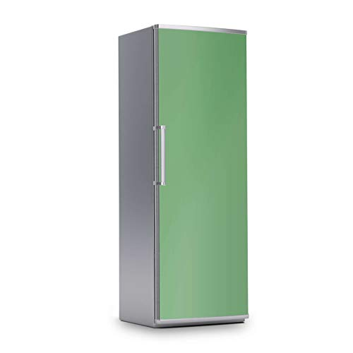 creatisto Kühlschrank Foto-Tapete I Dekofolie für Kühlschrankfront - Klebesticker Aufkleber selbstklebend I Dekoration Küche - Farbe: Grün Light