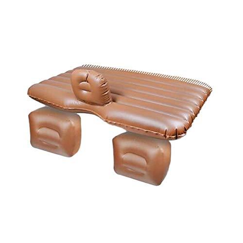 Lalawo luchtbed voor auto, koffer en reisbed, compressor en twee opblaasbare kussens, super comfortabel, Tpu brown