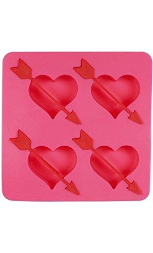 Moule à glaçons coeurs flèche rose