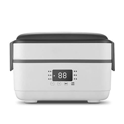 Fiambrera eléctrica de doble capa Caja de almuerzo eléctrica pequeña Arrocera Calefacción automática Timing Aislamiento Mini
