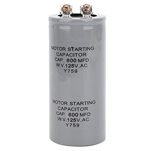 CD60 600MFD 125VAC Motor startet Kondensator Wasserpumpe Kondensatorpumpe Steuerbox 43x102mm