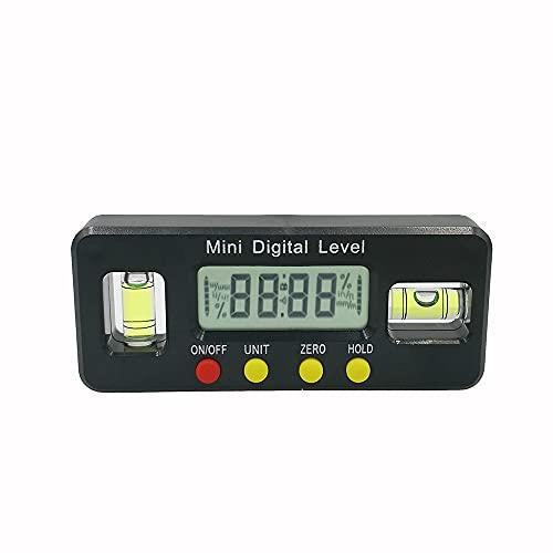 Buscador de ángulo digital Transportador Caja de nivel electrónico de 360 grados Inclinómetro magnético Herramienta de medición portátil de ángulo