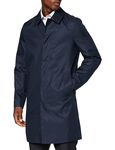 Marchio Amazon - find. Cappotto Impermeabile Uomo, Blu (navy), M, Label: M