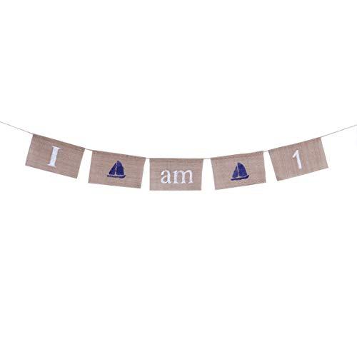 Amosfun Guirnalda de banderines de 2 metros para bebé, diseño de banderines, decoración para habitación de bebé, decoración de guardería, fiesta de cumpleaños