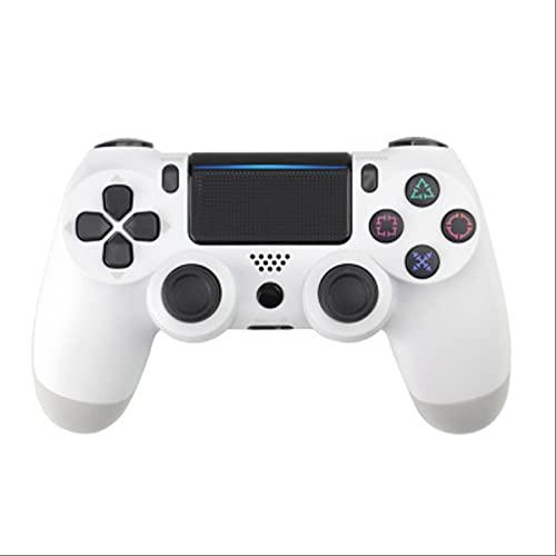 Leisont - Controlador de Joystick Bluetooth inalámbrico Tablero de Juego Dual Shock 4 Consola de Juegos para el Controlador de vibración PS3 PC Copos de Nieve Blancos