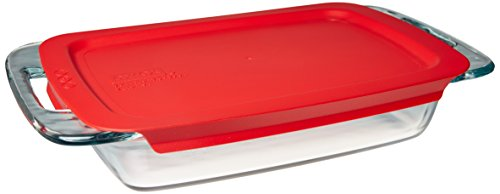 Pyrex Easy Grab Glass Oblong Baking Dish with Lid (2-quart)